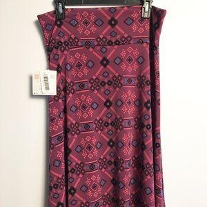 *3 for $36* Lularoe mauve Azure Skirt Size XL